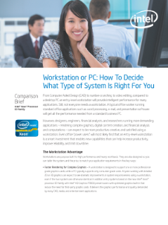 Workstation or PC: How to Decide What Type of System Is Right for You