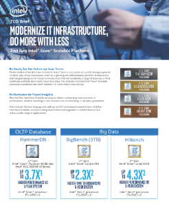TCO Brief: 2nd Gen Intel® Xeon® Scalable Platform