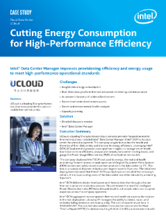 Cloud Data Center  UCloud Cutting Energy Consumption  for High-Performance Efficiency  Case Study
