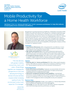 Mobile Productivity for a Home Health Workforce