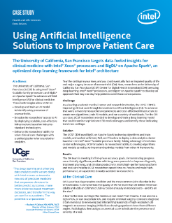 AI and Intel® Xeon® Processors Improve Patient Cares