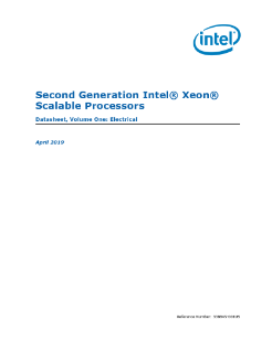 Second Generation Intel® Xeon® Scalable Processors Datasheet, Vol. 1