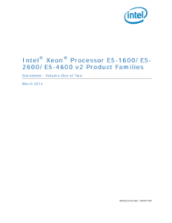 Intel® Xeon® Processor E5 v2 Family: Datasheet, Vol. 1