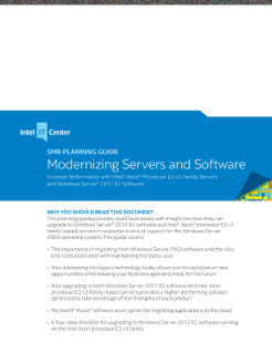 Modernizing Servers and Software with Intel® Xeon® Processor E3