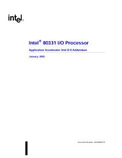 Intel® 80331 I/O Processor Application Accelerator Unit D-0 Addendum