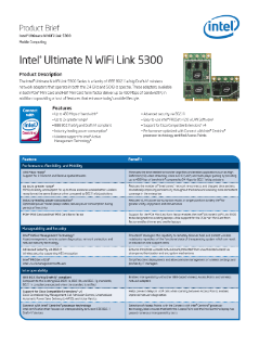 Intel Ultimate N WiFi Link 5300