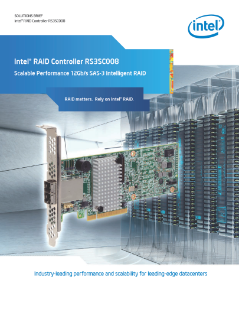 Scalable Performance: Intel® RAID Controller RS3SC008