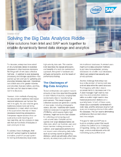 Solving the Big Data Analytics Riddle