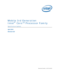 Mobile 3rd Generation Intel® Core™ Processor Family: Spec Update