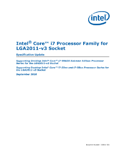 Intel® Core™ i7 Processor Family for LGA2011-v3 Socket Specification Update