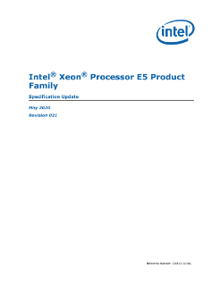 Intel® Xeon® Processor E5 Family: Spec Update