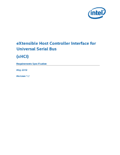 xHCI for Universal Serial Bus: Specification