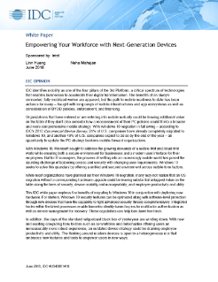 Empowering Your Workforce with Next-Generation Devices