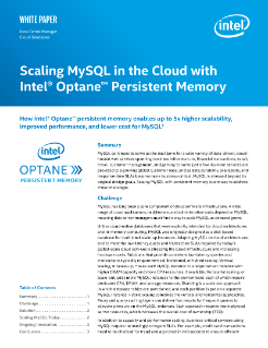Scaling MySQL with Persistent Memory